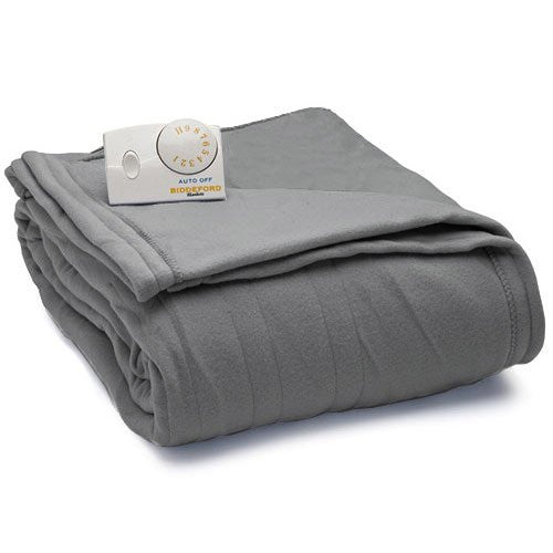 Biddeford Blankets Comfort Knit Heated Blanket (Twin, Dark Grey)