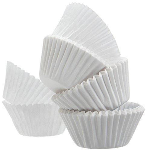 A World Of Deals Best Quality Standard Size White Cupcake Paper   Baking Cup   4 Packs Cup Liners 50