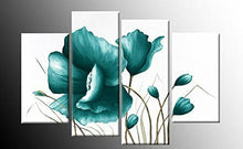Best Favor Hand Painted Modern Wall Home Decor Canvas Oil Painting 2013 New Beautiful Flower Landscape Oil Paintings 4Pcs Set Wood Framed