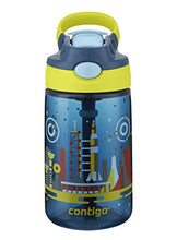 Contigo AUTOSPOUT Straw Gizmo Flip Kids Water Bottle, 14 oz., Nautical with Space Station