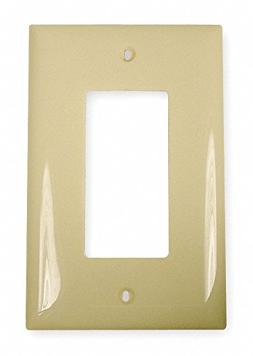 Rocker Wall Plate, Ivory, Number of Gangs: 1, Weather Resistant: No - Pack of 10