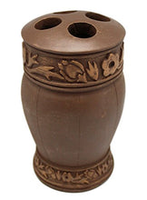 Classical Style Brown Resin Toothbrush Holder