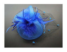 Blue Girl Hat Party Styling Accessories Hair Barrettes Flower Wedding Styling