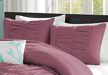 SCALABEDDING 100% Egyptian Cotton 600 Thread Count Center Gathered Mimi Ruffled Pillow Shams King Solid Magenta