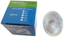 C Bconcept [10 Bulbs] 12 Volt, 20 Watts , Mr16, Uv Glass Face, Gu5.3 Bi Pin Base Halogen Light Bulb,