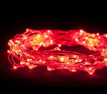 American Lighting 24 FOOT PLUG IN 3 STRAND RED LED DEWDROP LIGHTS