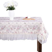 Country style lace coffee grace floral design square tablecloths off white 51