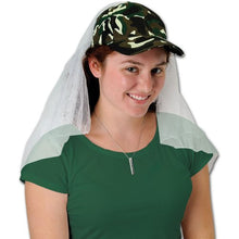 Camo Veil Cap Party Accessory (1 count) (1/Pkg)