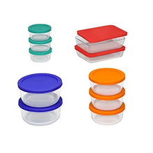 Pyrex 20 Pc. Storage Set With Color Lids