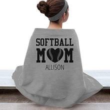 FUNNYSHIRTS.ORG Cozy Softball Mom of Allison: Gildan DryBlend Stadium Blanket