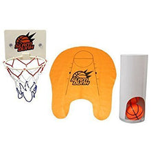 TU36 - SLAM DUNK TOILET BASKETBALL NET / BOARD INCLUDES 3 MINI BASKETBALLS & MAT W/ SUCKER ATTACHMEN