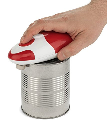 Bartelli Soft Edge Automatic Electric Can Opener   Red Battery Powered