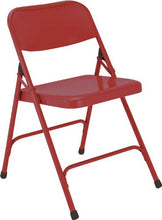 National Public Seating 200 Series All Steel Premium Folding Chair With Double Brace, 480 Lbs Capaci