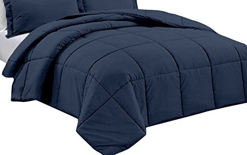 Clara Clark Down Alternative Comforter   All Season Quilted Comforter/Duvet Insert   Hypoallergenic