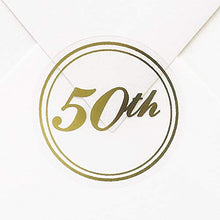 325pk 50th Seal - Gold-Envelope Seals