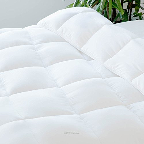 Linenspa All Season Down Alternative Quilted Comforter   Hypoallergenic   Plush Microfiber Fill   Ma
