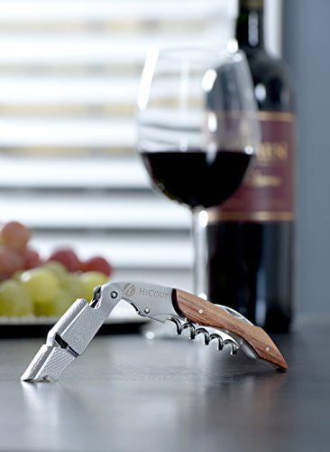 Professional Waiter's Corkscrew By Hi Coup   Rosewood Handle All In One Corkscrew, Bottle Opener And