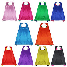 iROLEWIN Superhero Capes for Kids Reversible Dual Color Dress-Up Costume Super Hero Party Gift,10 Pack