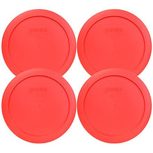 Pyrex 7201 Pc Round 4 Cup Storage Lid For Glass Bowls (4, Red)
