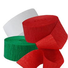 Classic Christmas Celebration Streamers ~ Red, White & Green - 217 Ft Total