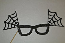 Halloween Photo Booth Party Props Black Spider Glasses