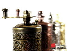 Turkish Handmade Grinder, Spice Grinder, Pepper Grinder, Pepper Mill 3.0'' (Antique Gold)