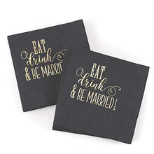 1pk Eat, Drink, Be Married - Napkins-Personalized Napkins