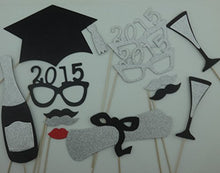13 Pc Graduation 2015 Glasses Photo Booth Props Mustache on a Stick Xmas Christmas