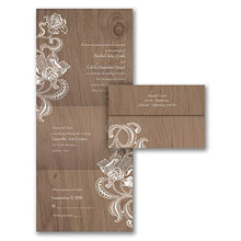 125pk Lacy Rustic - Seal 'n Send Invitation-Shop All Wedding