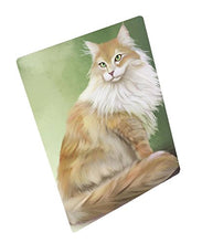 Maine Coon Cat Art Portrait Print Woven Throw Sherpa Plush Fleece Blanket (50x60 Fleece)
