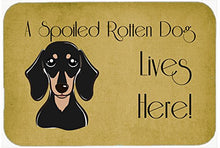 Caroline's Treasures BB1463CMT Smooth Dachshund Spoiled Dog Lives Here Kitchen or Bath Mat, 20 by 30