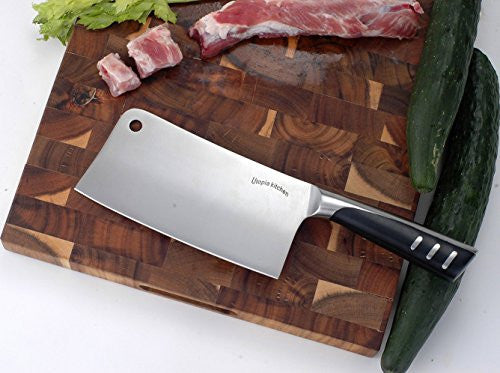 Utopia Kitchen 7 Inches Cleaver Knife Chopper Butcher Knife Stainless Steel For Home Kitchen And Res