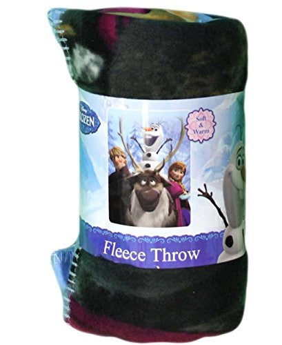 "Disney's Frozen, ""Out In The Cold"" Fleece Throw Blanket, 46"" X 60"", Multi Color"