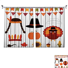 DragonBuildingMaterials Patterned Drape for Glass Door Thanksgiving Vector Decoration and Photo Booth Props W55 x L72