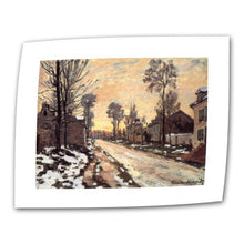 Art Wall Snowy Country Road 14 By 18 Inch Flat/Rolled Canvas By Claude Monet With 2 Inch Accent Bord
