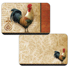 Counterart Reversible Set of 4 Wipe Clean Placemats Signature Rooster
