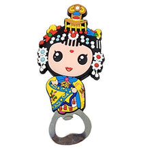 Kylin Express Chinese Peking Opera Characters Beer Bottle Opener Fridge Magnets, G