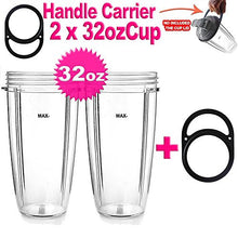 2 Pack Cup Extra Large Huge 32 Oz For Nutribullet 600 W 900 W