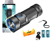 Rechargeable Kit: Olight S1 Baton 500 Lumen Compact Edc Led Flashlight With 2 Pack 16340 Rcr123 A Rec
