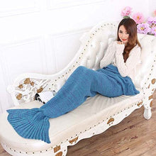 Mermaid Tail Blanket,Linka Knitted Mermaid Tail Blanket,Warm and Soft Crochet Mermaid Tail Blanket f