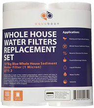 Aquaboon 2PP-10B,1Micron Big Whole House Water Sediment Filter, 10-Inch, Blue, 2-Pack