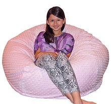 Ahh! Products Cuddle Minky Bubble Pink Washable Large Bean Bag Chair