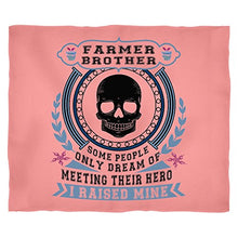 Meeting My Farmer Stadium Blanket, Farmer Brother Soft Fleece Throw Blanket (Small 40