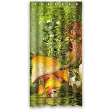 Fairy Tale Mushroom and Butterfly Designed for Kids- Personalize Custom Bathroom Shower Curtain Wate