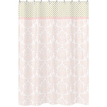 Sweet Jojo Designs Blush Pink White Damask and Gold Polka Dot Amelia Girls Kids Bathroom Fabric Bath