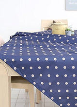 cozymomdeco 100% Pvc, Hand Washable, Dinner, Summer & Picnic Oilcloth Tablecloth 55 Inch,69 Inch -2 Colors (Navy, 55