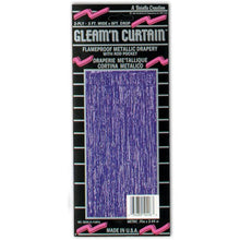 1-Ply FR Gleam 'N Curtain (purple) Party Accessory  (1 count) (1/Pkg)