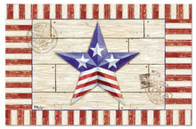Counterart Paper Placemat, Patriotic Barn Star, 24-Pack