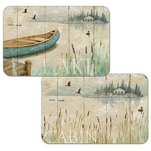 Counterart Set of 4 Reversible Wipe Clean Placemats Lakeside