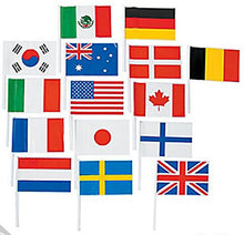 Flags Of All Nations, International Flags   72 Flags For Party Decorations, School Events, Cultural